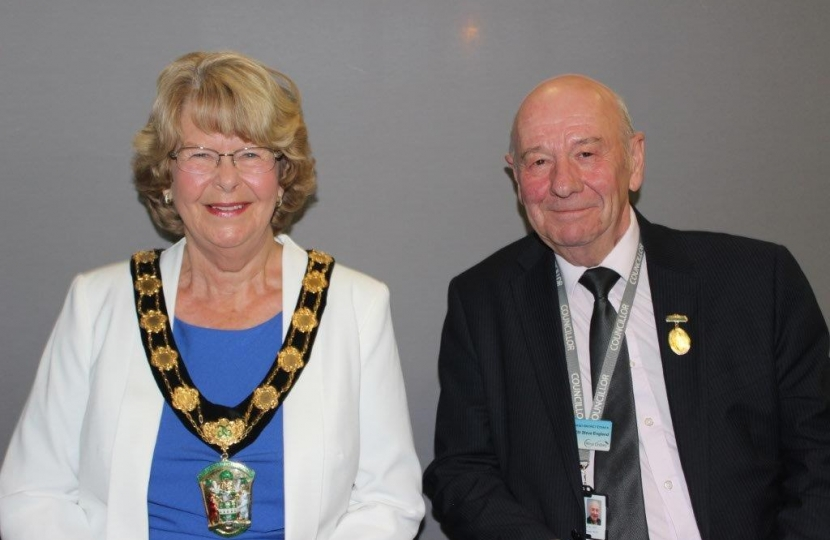 Chairman Cllr Pat Mewis and Vice-Chairman Cllr Steve England