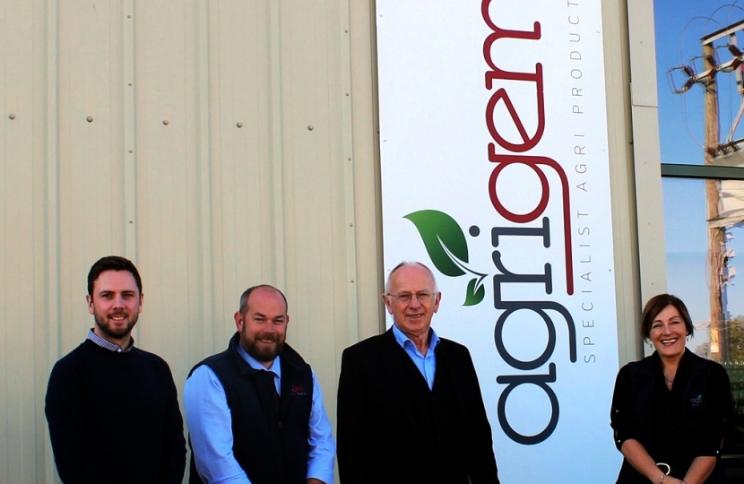 Leader visiting Agrigem at Saxilby Enterprise Park