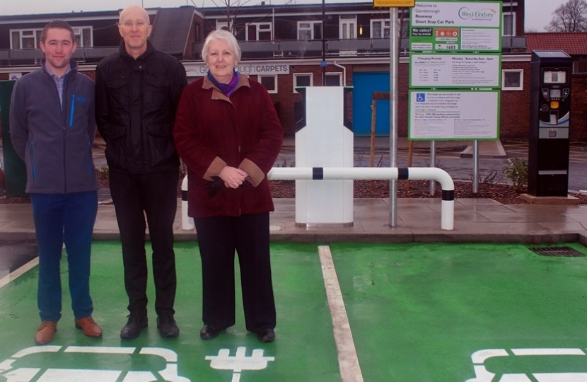 New Electric Vehicle Charging Points in Gainsborough