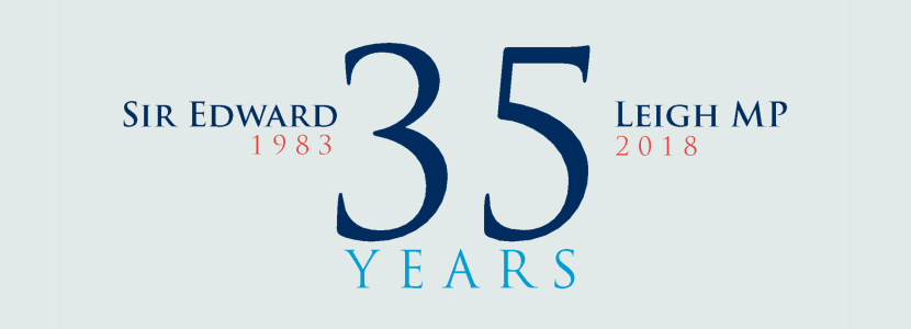 Sir Edward Leigh's 35th Anniversary of Election to Parliament Logo