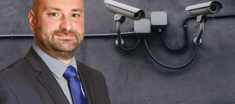 Police & Crime Commissioner Marc Jones, CCTV (background image by Scott Webb from Pexels)