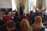 Sir Edward Leigh MP address the Day Conference at Hemswell Court