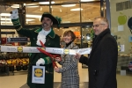 Chairman, Angela Lawrence opens the new Lidl store in Gainsborough