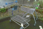 Abandoned trolleys