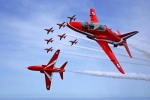 RAF Areobatic Squadron, the 'Red Arrows'