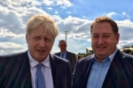 Prime Minister Boris Johnson and Cllr. Giles McNeill