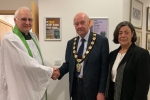 Rev. Paul Ievins, Cllr. Steve England and Cllr. Mrs. Caralyne Grimble