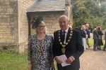Chairman Cllr. Steve England and Chairman's Lady Mrs. Kathryn England
