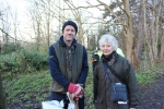 Cllr. Mrs. Gill Bardsley with Mr. David Rodger at the planting session
